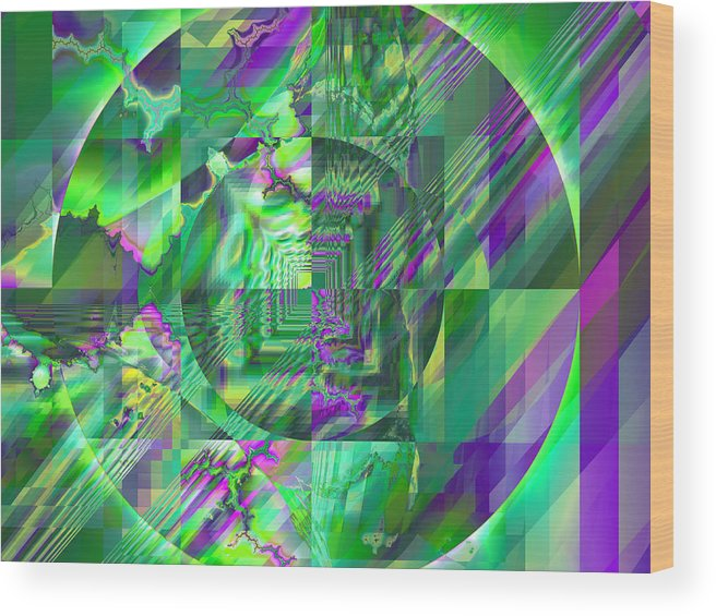 Fractal Wood Print featuring the digital art The Crazy Fractal by Frederic Durville