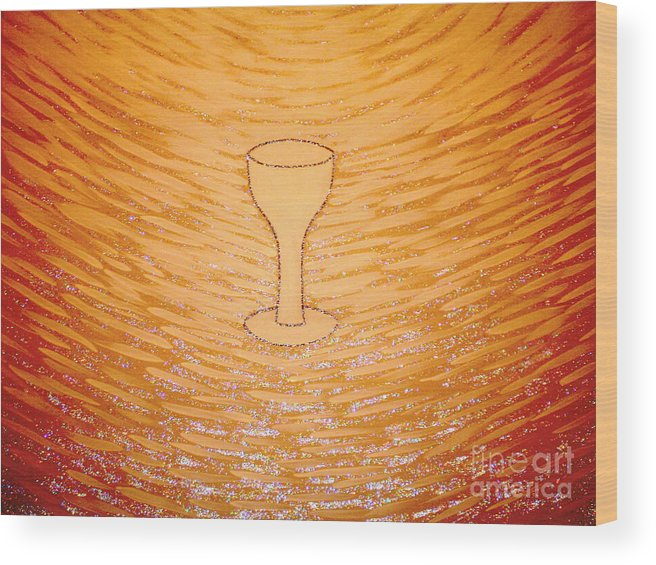 The Cup Of Salvation Wood Print featuring the painting The Cup Of Salvation by Daniel Henning