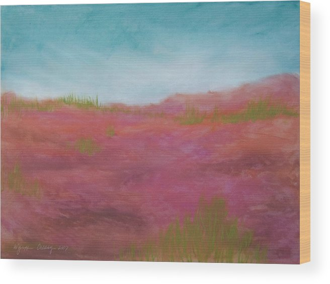 Beach Wood Print featuring the painting The Dunes by Wynn Creasy