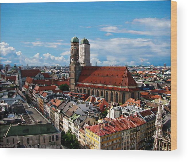 Germany Wood Print featuring the photograph The Frauenkirche by Anthony Dezenzio