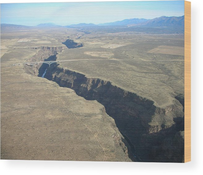 Landscape Wood Print featuring the photograph The Gorge Bridge In Taos by Irina ArchAngelSkaya