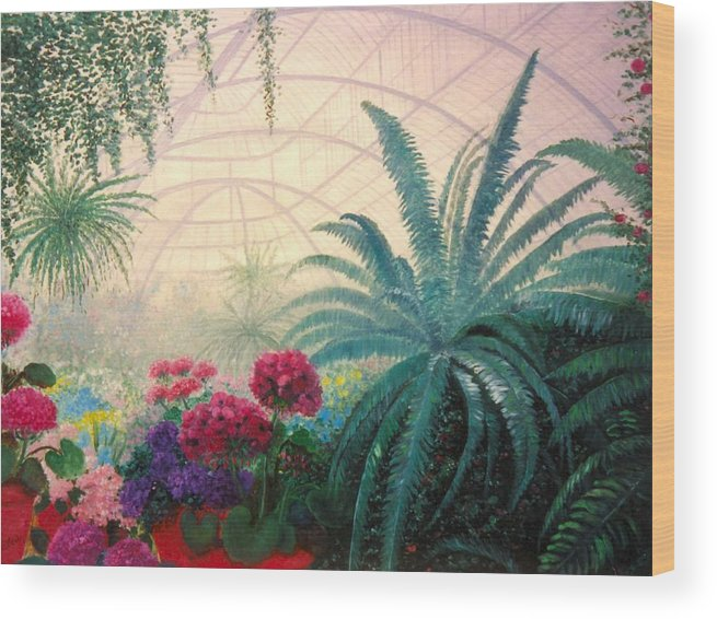 Greenhouse Wood Print featuring the digital art The Green House by Jeanene Stein