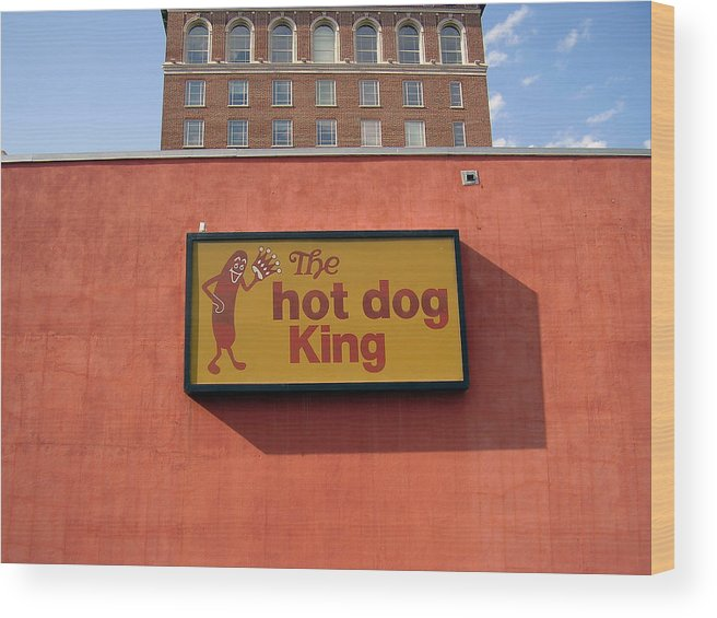 Hot Dog King Wood Print featuring the photograph The Hot Dog King by Flavia Westerwelle