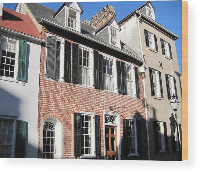 Photography Wood Print featuring the photograph The Houses Of Charleston by Susanne Van Hulst