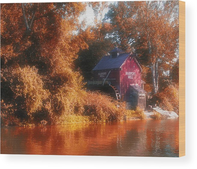 Mill Wood Print featuring the photograph The Mill by Kenneth Krolikowski