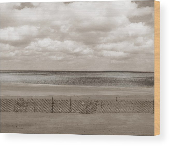 Ocean Wood Print featuring the photograph The Perfect Sky Is Torn by Dana DiPasquale