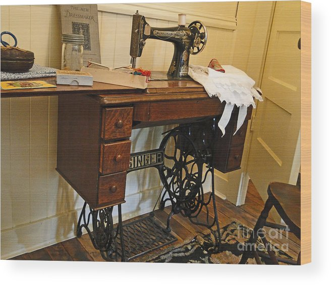 Al Bourassa Wood Print featuring the photograph The Sewing Room by Al Bourassa