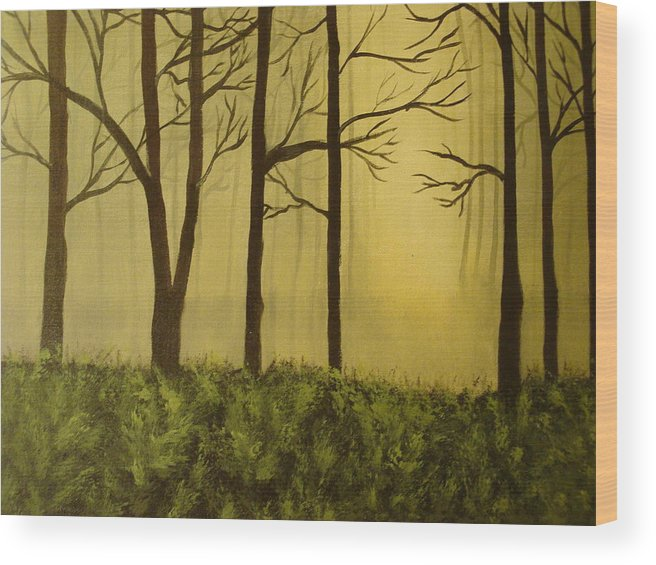 Woods Wood Print featuring the painting The Woods by Modern Palette Art