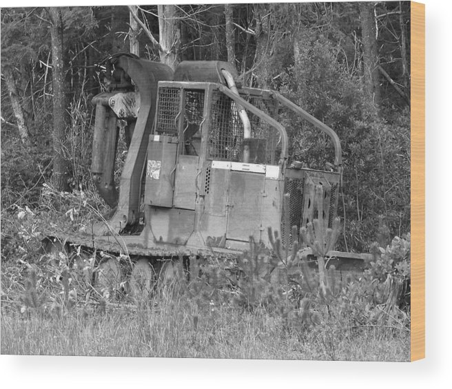 Equipment Wood Print featuring the photograph Tired Iron by Angi Parks