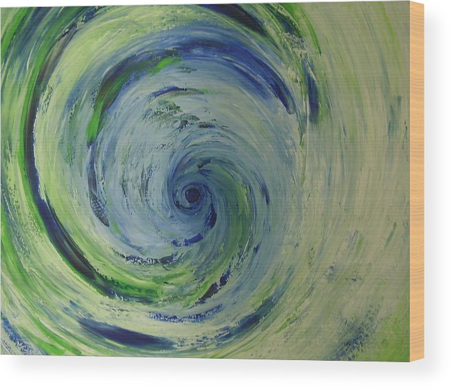 Wood Print featuring the painting Tornado by Murielle Hebert