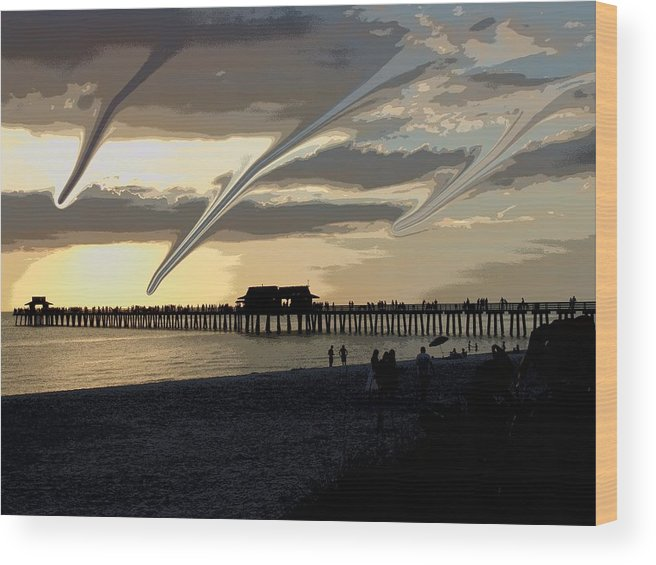 Abstract Wood Print featuring the photograph Tornado Watch by Florene Welebny