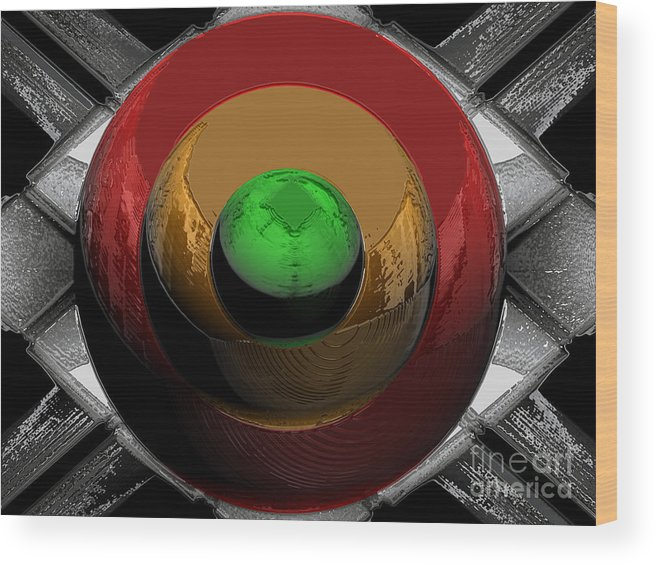 Traffic Wood Print featuring the digital art Traffic Lights Of The Future by Patrick Guidato