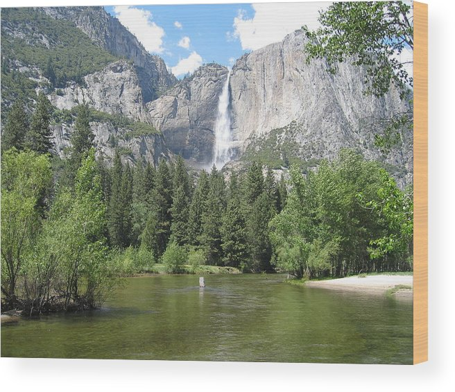 Waterfalls Wood Print featuring the photograph Tranquil Waterfalls by Jerry Patchin