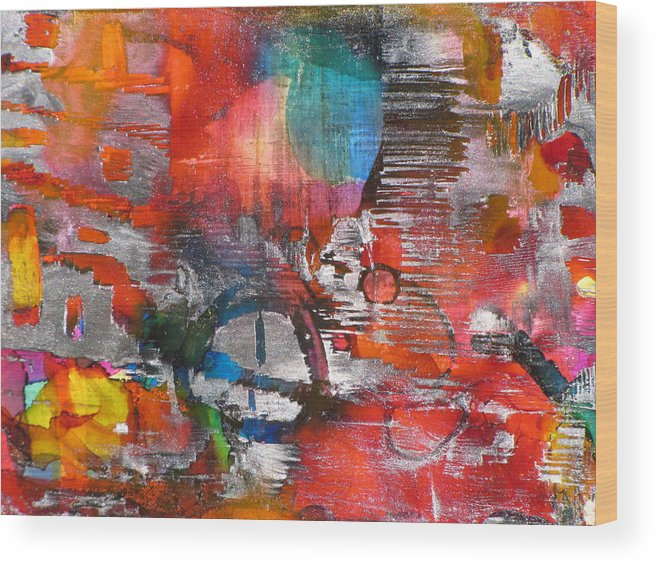 Abstract Mixed Media Painting Wood Print featuring the painting Transformed by Gina Reynolds