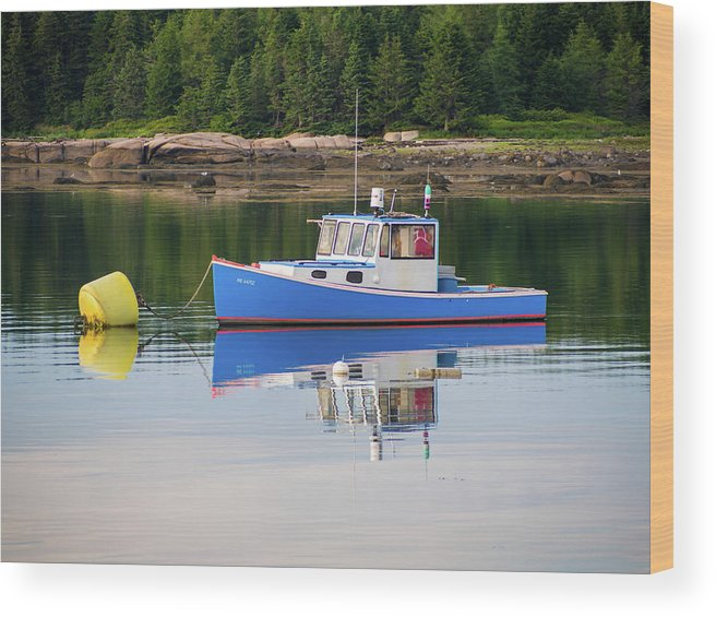 Jonesport Wood Print featuring the photograph Travel New England by Trace Kittrell
