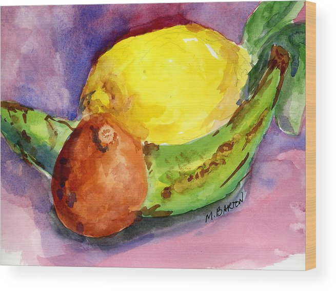 Fruit Wood Print featuring the painting Tropical by Marilyn Barton