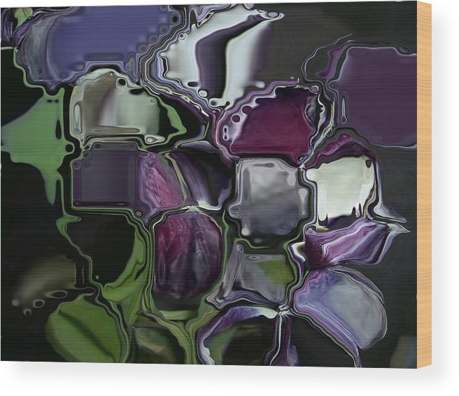 Flower Abstract Wood Print featuring the digital art Tullips by Patricia Williams