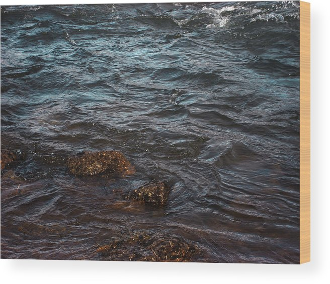 Water Wood Print featuring the photograph Turbulence by Marilynne Bull