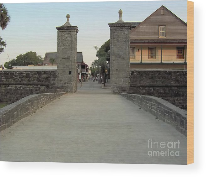 City Gates Wood Print featuring the photograph Twilight At The City Gates by D Hackett