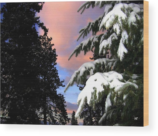 Sunset Wood Print featuring the photograph Twilight Hour by Will Borden