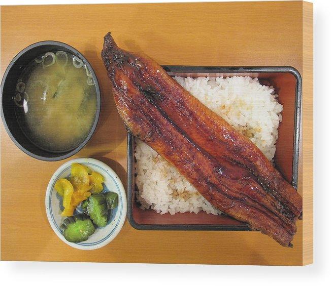 Tokyo Wood Print featuring the photograph Unagi Lunch Box by Rick Macomber