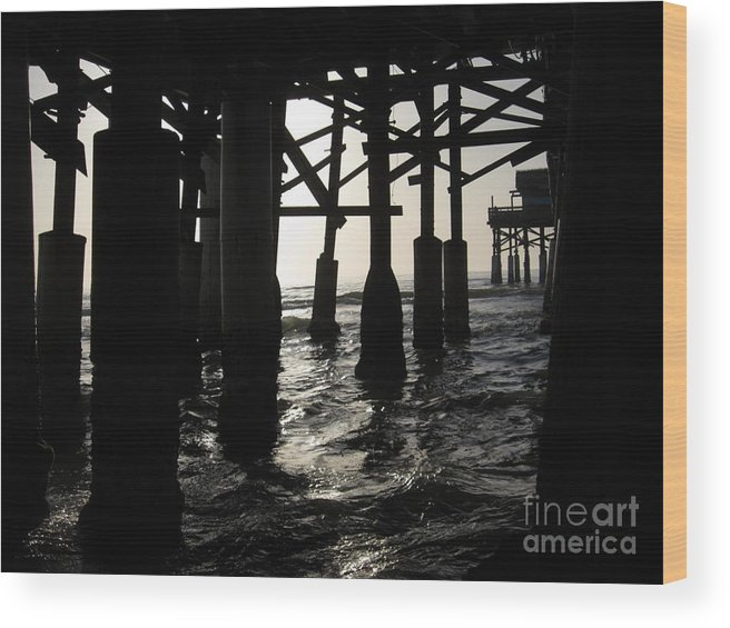 Florida Wood Print featuring the photograph Under The Boardwalk by Elizabeth Donald