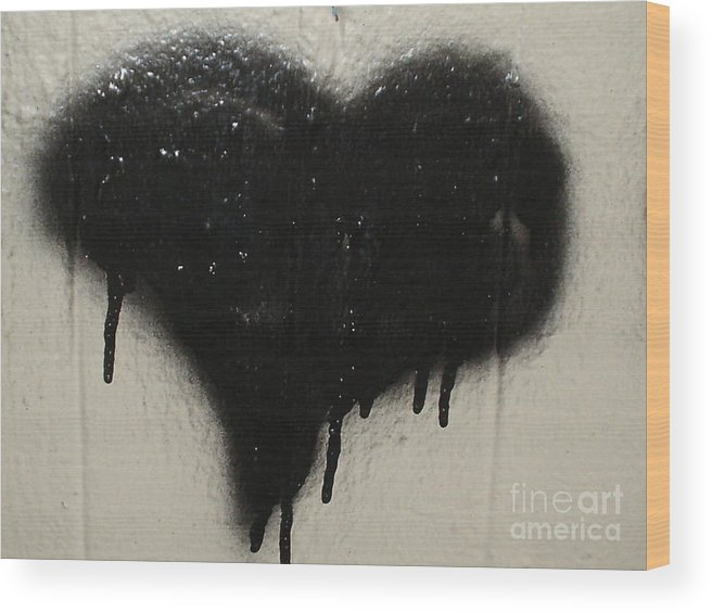 Black Heart Wood Print featuring the photograph Urban Love by Chandelle Hazen