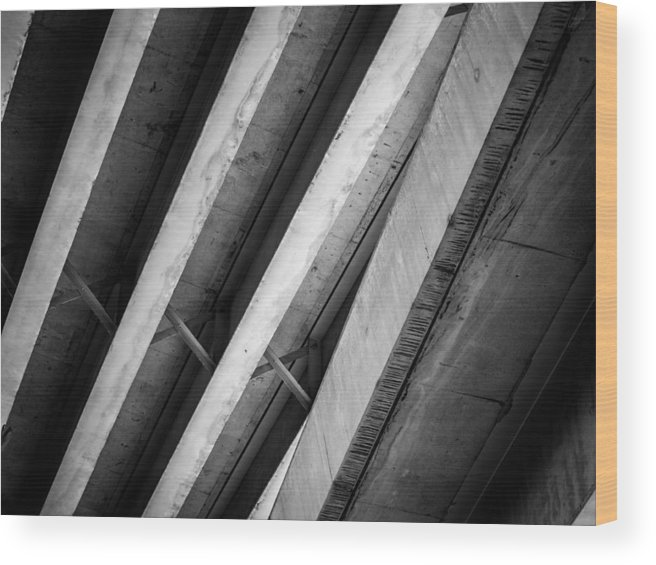 Urban Wood Print featuring the photograph Urban Rib Cage - Number One by Kaleidoscopik Photography