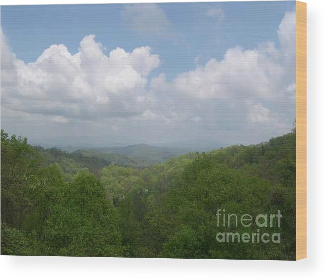 Mountains Wood Print featuring the photograph View From Ober Gatlinburg by Barb Montanye Meseroll
