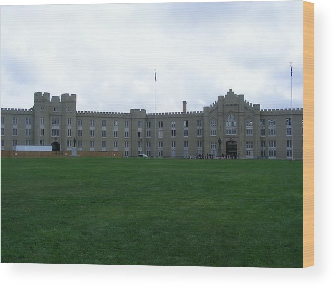 Vmi Wood Print featuring the photograph Virginia Military Institute by Eddie Armstrong