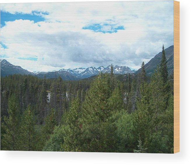 Alaska Wood Print featuring the photograph Vistas Along The Alcan by Janet Hall