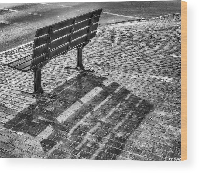 Bench Wood Print featuring the photograph Waiting For Proposal by Richard Bean
