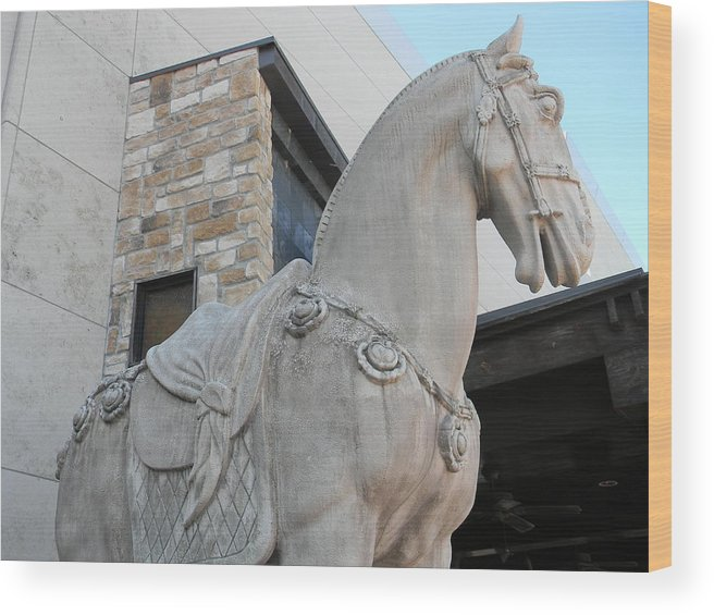 P.f. Chang's China Bistro Wood Print featuring the photograph Warrior Horse by Warren Thompson