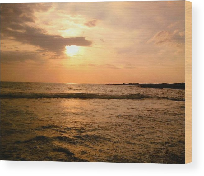 Sunset Wood Print featuring the photograph Wash Me In Gold by Charles Jennison