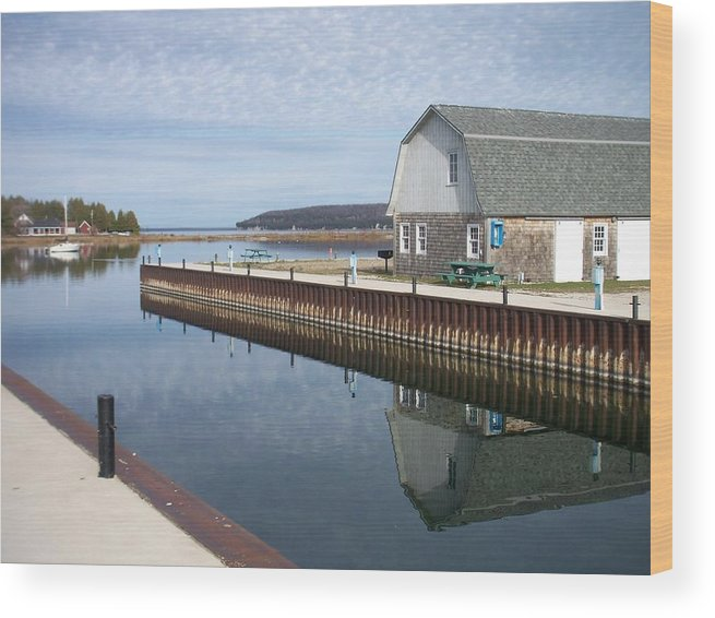 Washington Island Wood Print featuring the photograph Washington Island Harbor 2 by Anita Burgermeister