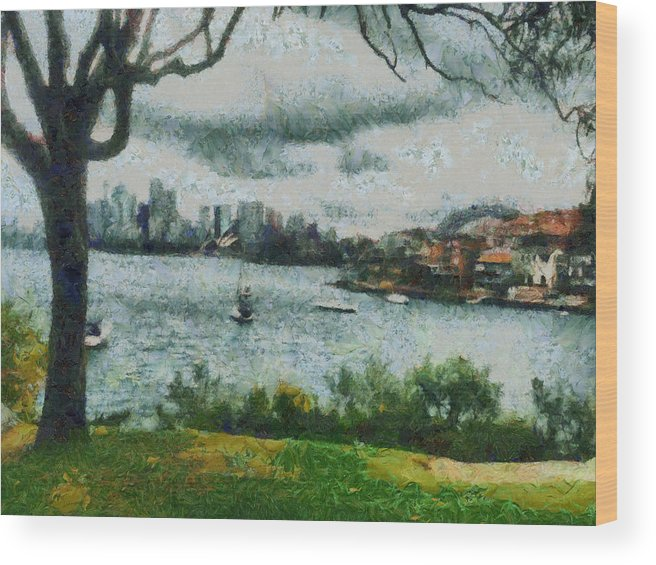 Skyline Wood Print featuring the photograph Water And Scenery by Ashish Agarwal
