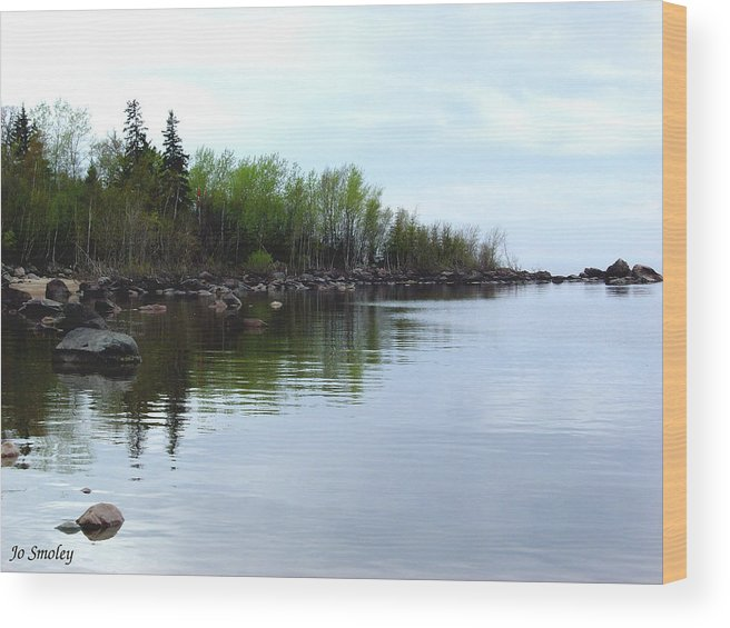 Grand Beach Shoreline Wood Print featuring the photograph Water Like Glass by Joanne Smoley