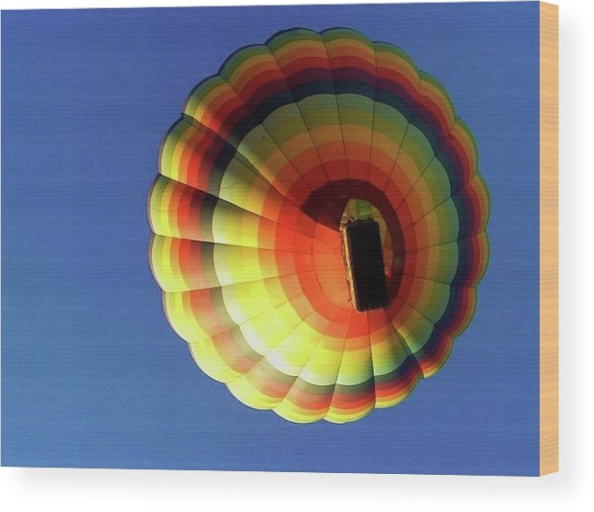 Balloon Wood Print featuring the photograph Way Up In The Air by Marla McFall