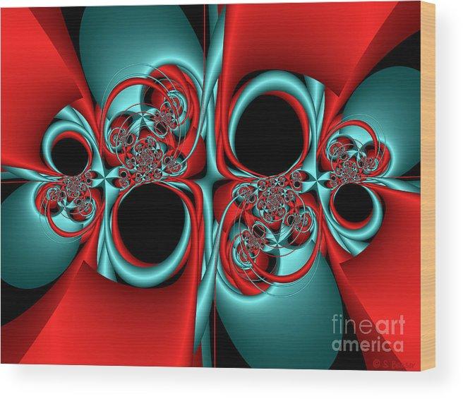 Digital Wood Print featuring the digital art Whirligigs by Sandra Bauser Digital Art