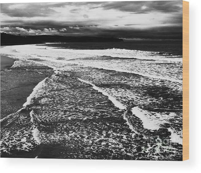Whitby Wood Print featuring the photograph Whitby Sea And Sky by Paul Jarvis