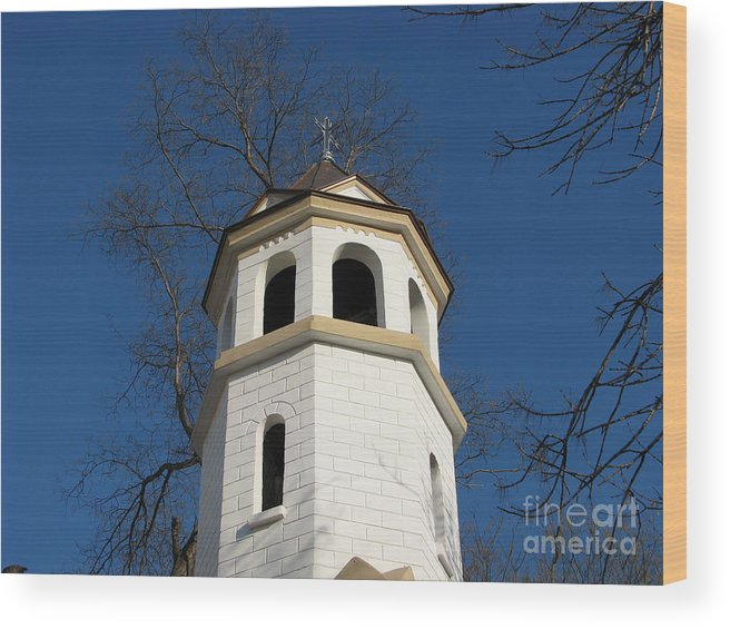 Architectual Wood Print featuring the photograph White by Iglika Milcheva-Godfrey