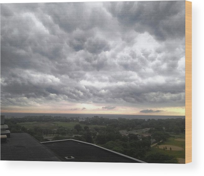 Wood Print featuring the photograph Wicked Clouds by Rocky Washington