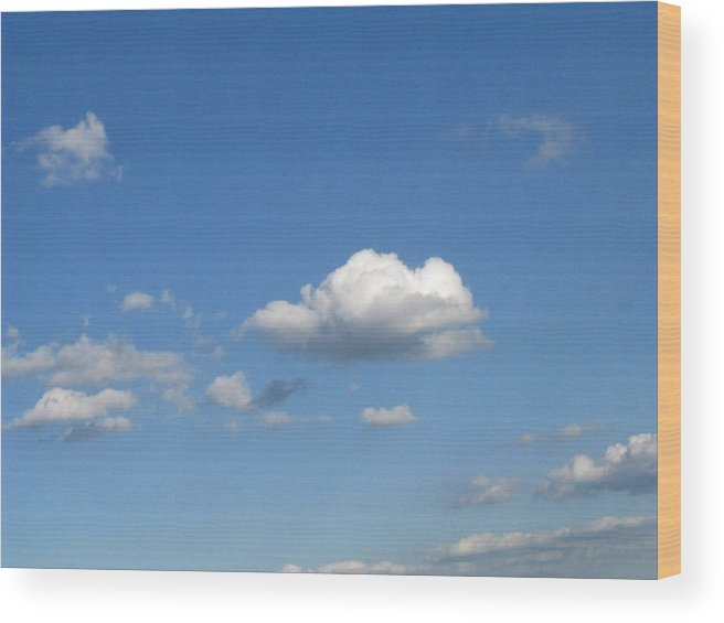 Clouds Wood Print featuring the photograph Wide Open by Rhonda Barrett