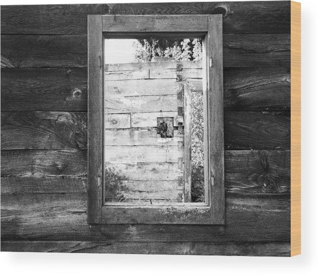 Karlovac Wood Print featuring the photograph Window Frame by Helena Jajcevic