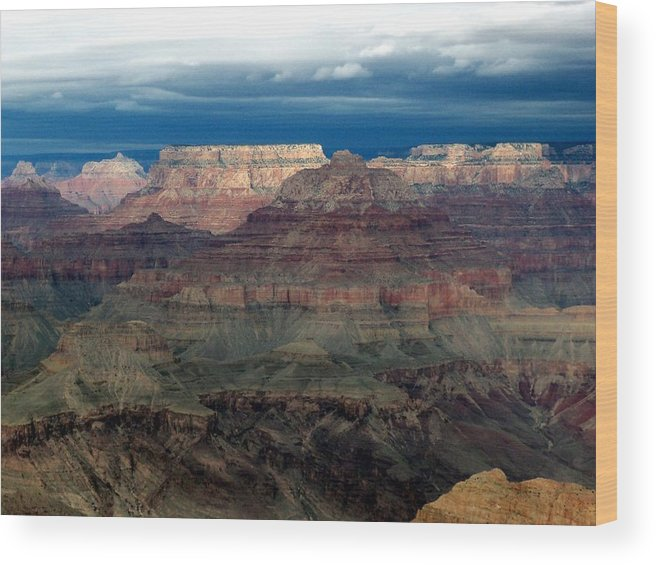Grand Canyon National Park Wood Print featuring the photograph Winter Approaching by Carrie Putz