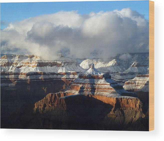 Grand Canyon National Park Wood Print featuring the photograph Winter by Carrie Putz
