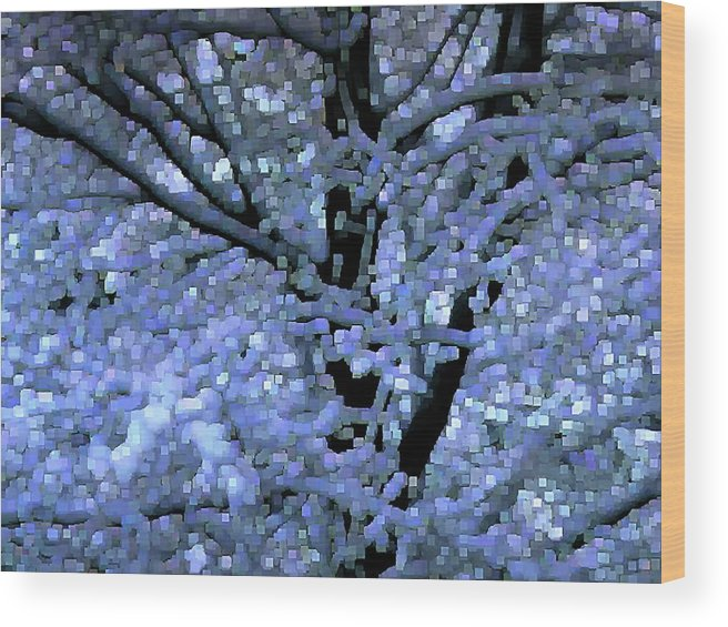 Abstract Wood Print featuring the digital art Winter Light by Dave Martsolf