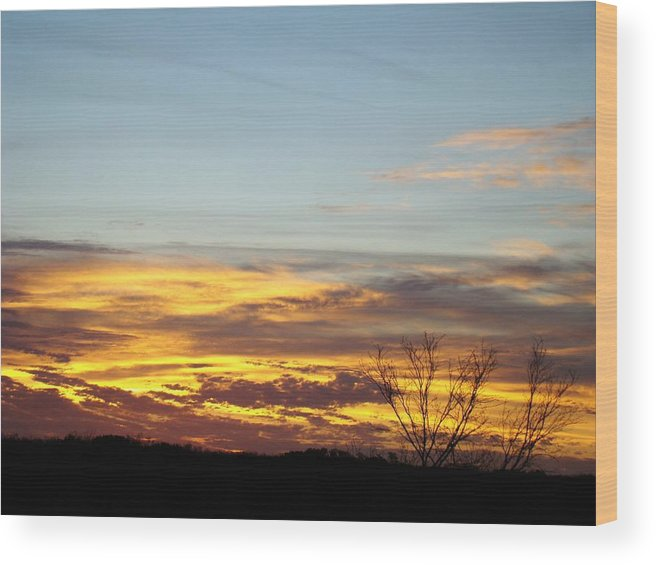 Scenic Wood Print featuring the photograph Winter Sunrise One by Ana Villaronga