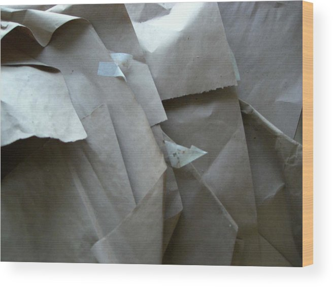 Artwork Wrappings Wood Print featuring the photograph Wrappings by Nancy Ferrier