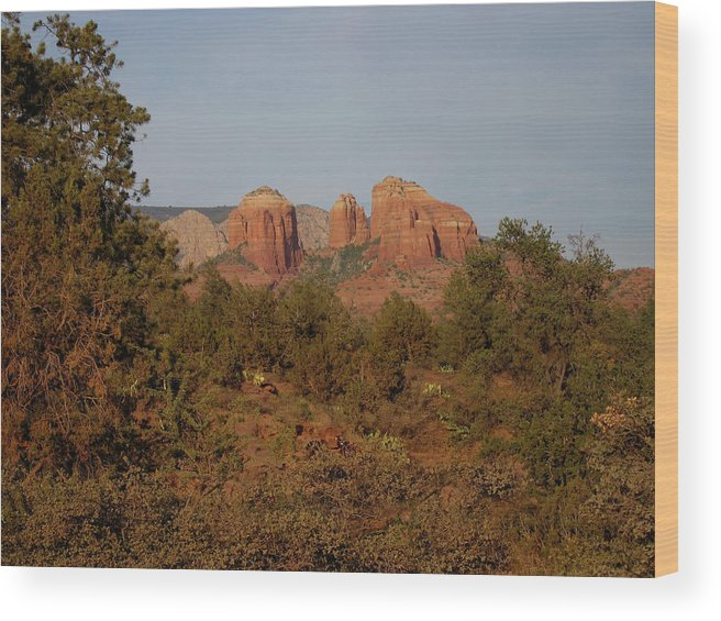 Sedona Wood Print featuring the photograph Yearning Sedona by Brendon Bradley